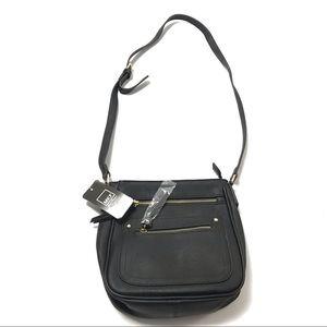 MKF Women Crossbody Handbag Purse Satchel Black